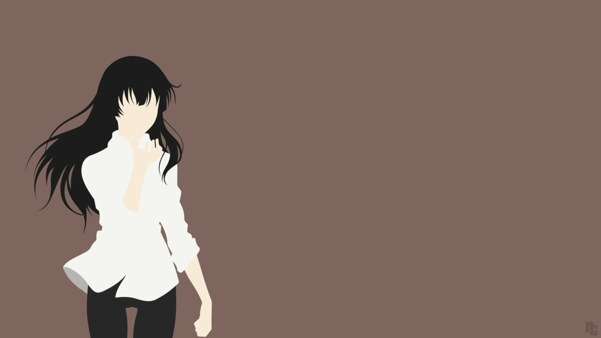 source : http://ncoll36.deviantart.com/art/Minimalist-Wallpaper-Sakurako-Beautiful-Bones-566490313