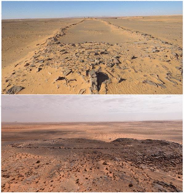 Misteriosas estruturas de pedra antigas descobertas na Arábia Saudita.