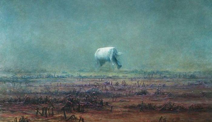 "Pintor polonês que aprendeu a ""pintar sonhos"" ."