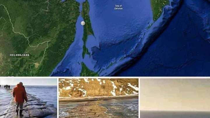 """Uma enorme """"estrada de pedra"""" surgiu sob as águas do Oceano Pacífico"""