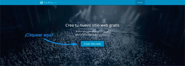 Página principal WordPress.com