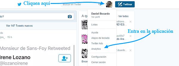 Cómo entrar en Twitter Analytics