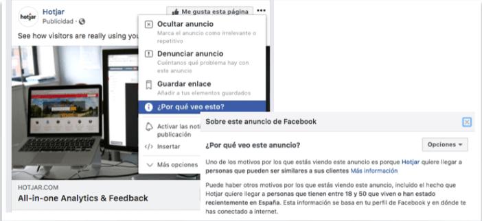 ejemplo analizar segmentacion facebook ads