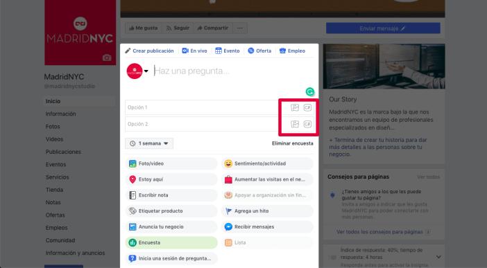 encuestas en Facebook con GIFs