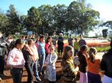 Visita ao setor da olericultura na Escola Agrícola.