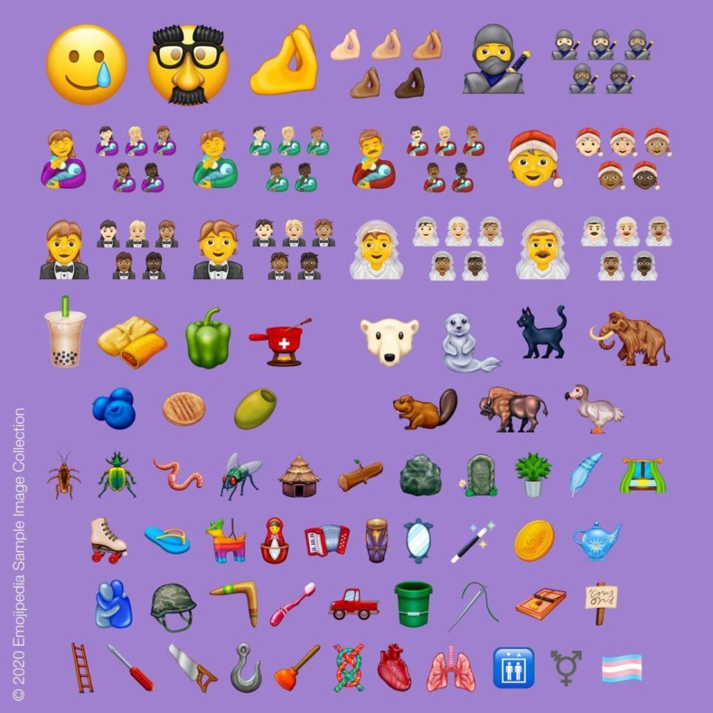 Representación gráfica de los 117 nuevos Emoji para el año 2020