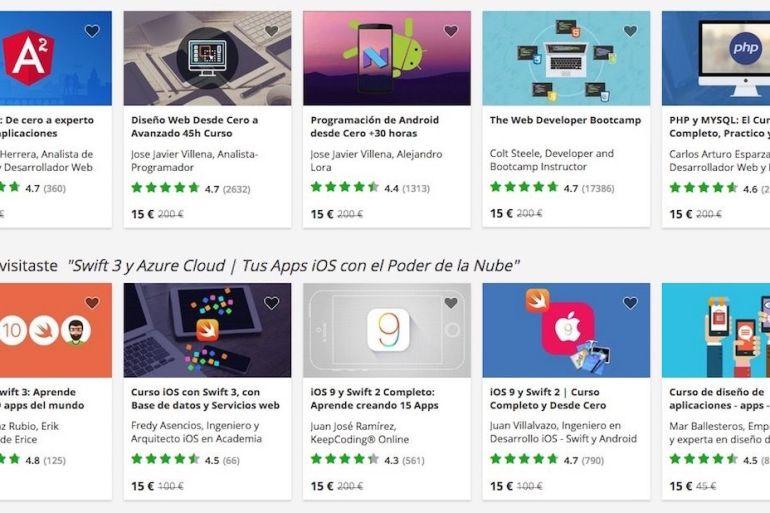 Cursos online en Udemy - crear aplicaciones iOS y Android