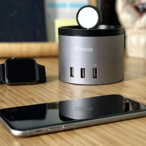 Base de carga para iPhone y Apple Watch Oittm