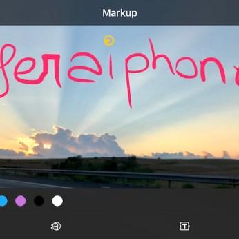 Markup Fotos iOS 10