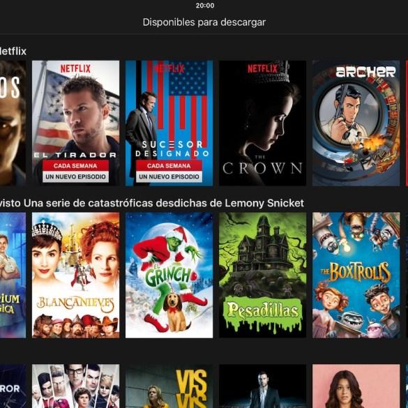 Netflix Descargar películas y series