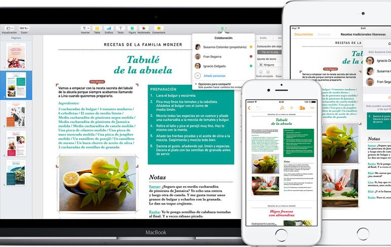 Pages Apple iOS Mac gratis