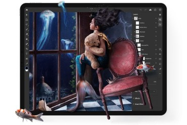 Captura de pantalla de la app Photoshop para iPad