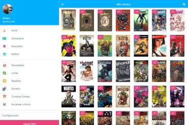 Captura de pantalla de la app Whakoom. Se muestra la comiteca con las portadas de los cómics que tenemos en nuestra colección.