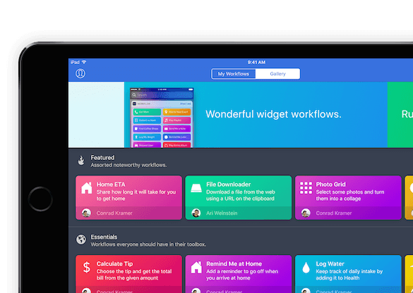 Workflow para iPhone, iPad y Apple Watch