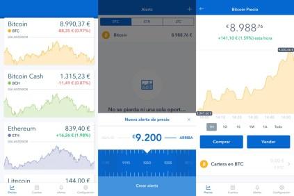 Coinbase app para iOS
