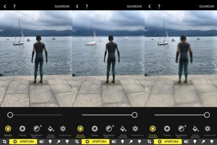 Focos App, Control de profundidad en fotos Bokeh