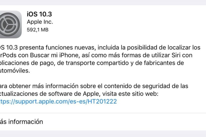 iOS 10.3 para iPhone, iPad y iPod Touch