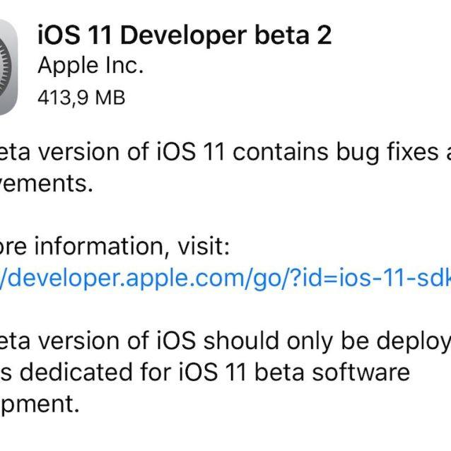 iOS 11 beta 2 iPhone