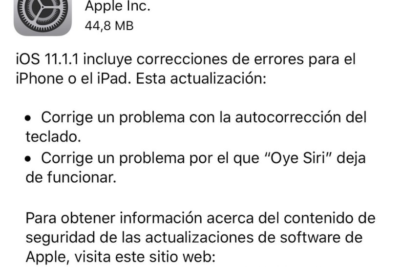 iOS 11.1.1
