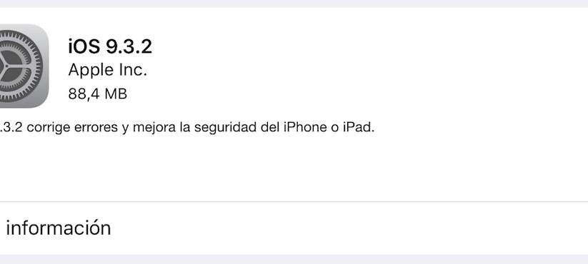 iOS 9.3.2 iPad
