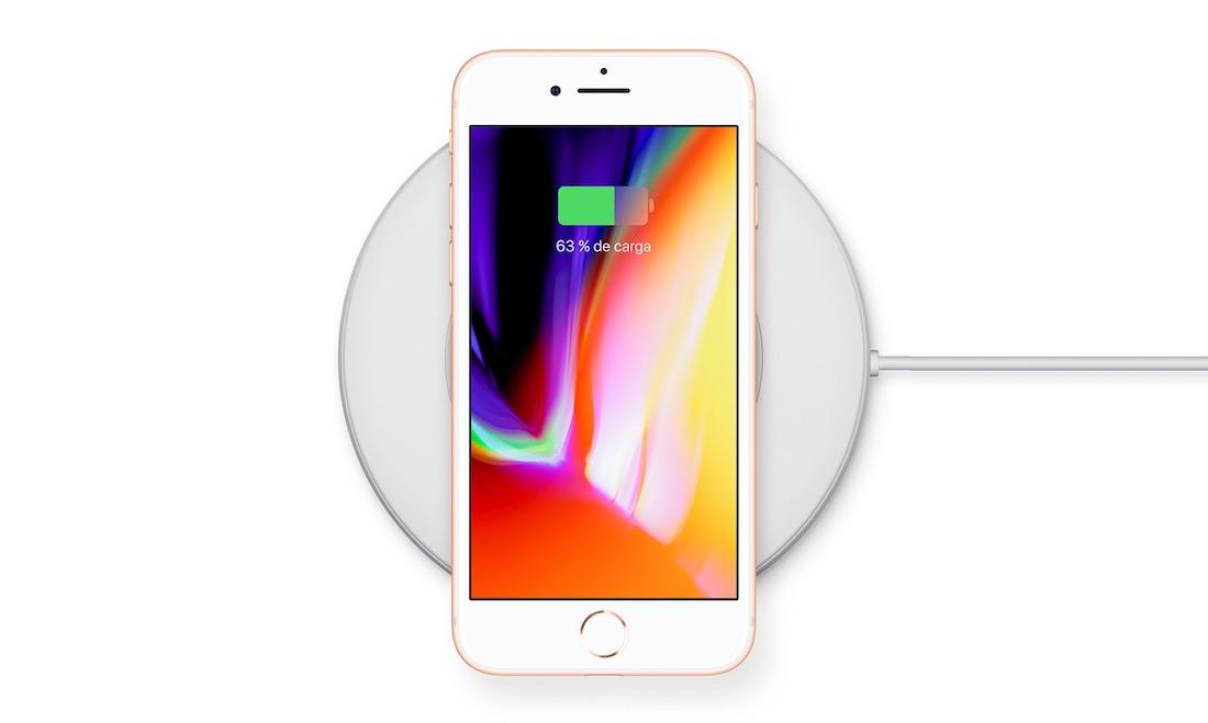 iPhone 8 carga inalámbrica