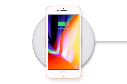iPhone 8 carga inalámbrica