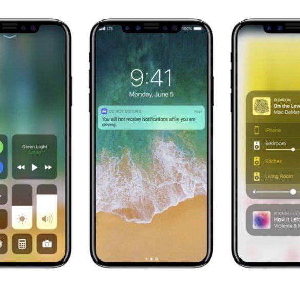 iPhone X 8 iOS 11