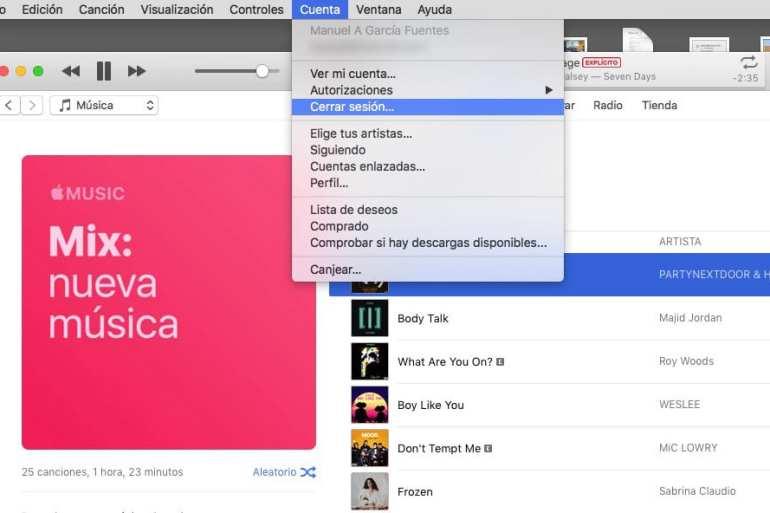 iTunes error - música de Apple Music que no suena