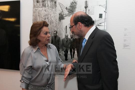 Cristina Lleras en la reinauguración por ampliación del Museo Santafé (Antes Galería Santafé). 2023.