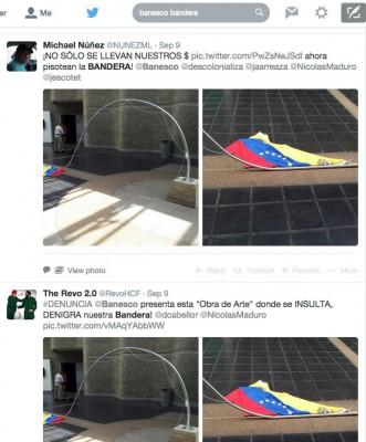 Tweets sobre la obra en Banesco 2014-09-11 at 2