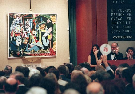 """La obra de Pablo Picasso titulada """"Les femmes de Alger"""" fue vendida por 31,9 millones de dólares en esta subasta de Christie's, en 1997. Getty"""