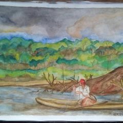 Pescador en el Río Amazonas