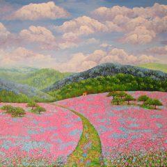 Camino entre las flores