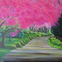 El camino y los cerezos