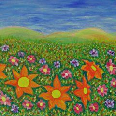 Prado con flores