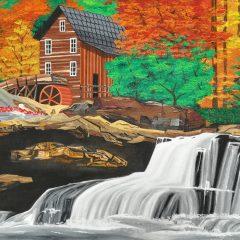 Casa y cascada