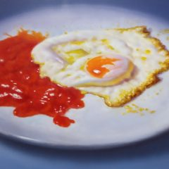 Bodegón huevo frito