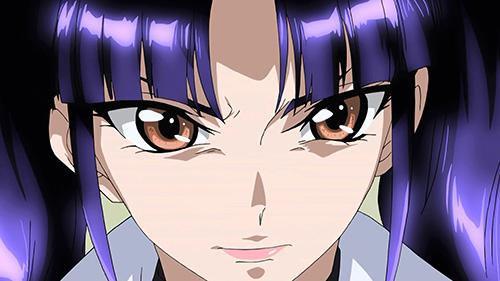 Screenshot of Captain Salia serious face in Cross Ange Episode 4