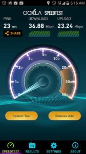 Picture of ZTE ZMAX 4G LTE Speed test