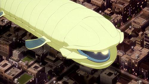 A neighbor flying over the city in World Trigger Episode 4