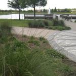 Wide picture of the park and the walking path