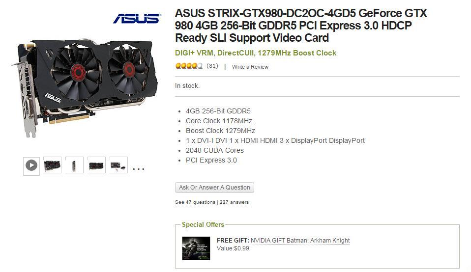 NVIDIA GTX 980 & GTX 980ti Price Cuts