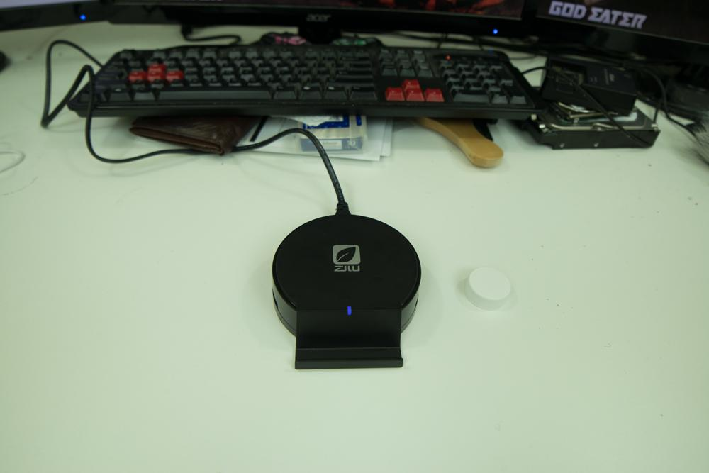 Top down view of the Zilu USB Desktop Charger