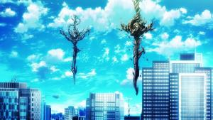 Screenshot of the Red and Blue King's Sword in the anime K