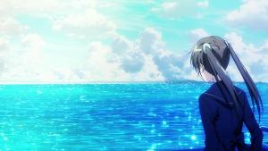 Screenshot of the sea in the anime K