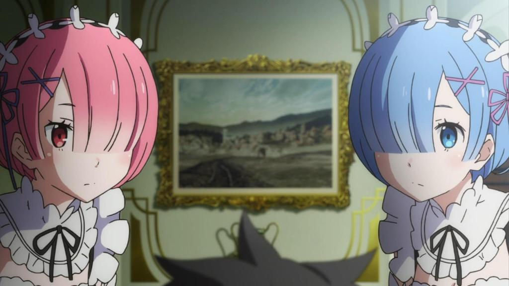 Screenshot of Ram and Rem from Re:Zero kara Hajimeru Isekai Seikatsu