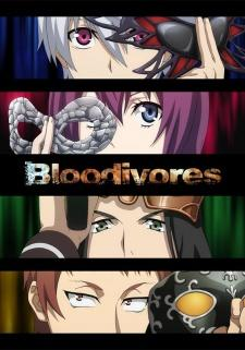 Bloodivores anime title graphic showing the four main characters eyes Mi Liu, Chen Fong, Win Chao, and Anji
