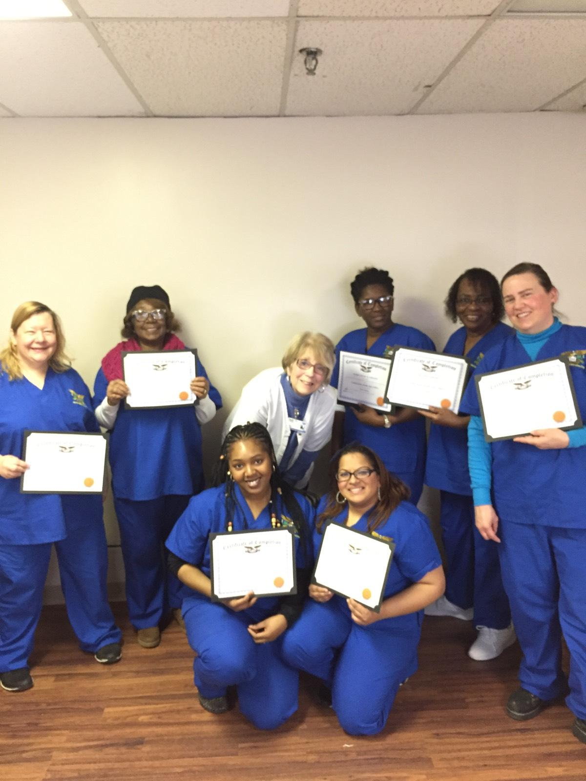 Congratulations to the Certified Home Health Aide Class of February 2018 in South Plainfield