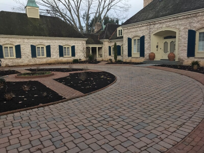 Brick Driveway in Lancaster, PA Eshelman Mill Gardens and Landscapes