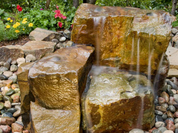 Stacked Rocks Water Feature